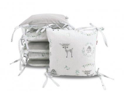 121180 207323 polstarkovy mantinel baby nellys kolousek velvet bavlna seda