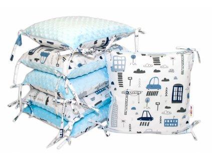 104328 175878 polstarkovy mantinel baby nellys mestecko minky modra