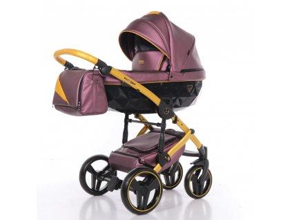 Kombinovaný kočárek Fluo Line 2 07 Purple/Yellow 2020
