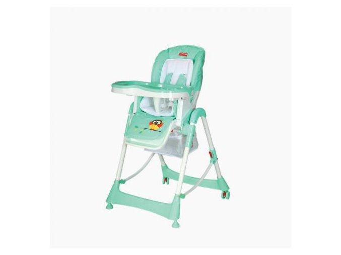 Dětská jídelní židlička Patron TROLL Owl mint 2018