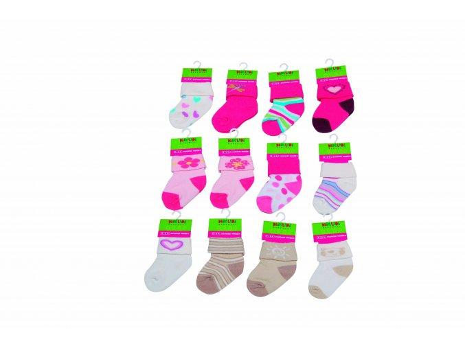 Kojenecké ponožky na kartě Pidilidi PD0500-01 2018