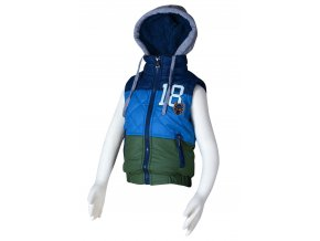 Dětská vesta s kapucí PIDILIDI PD1001-02 2018