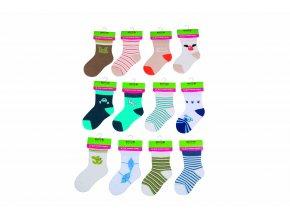 Kojenecké ponožky chlapecké (12 až 18m) Pidilidi PD505
