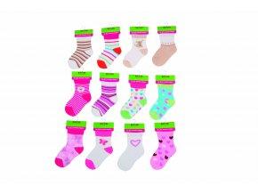 Kojenecké ponožky dívčí (12 až 18m) PD504