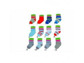 Kojenecké froté ponožky (0 až 6m) PD506