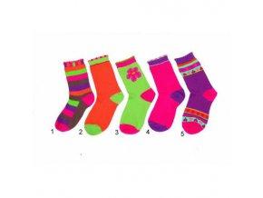 Dětské barevné ponožky Pidilidi PD513