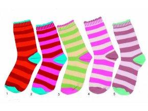 Dětské pruhované ponožky Pidilidi PD511