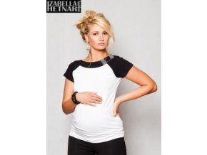 Těhotenské triko/halenka Kristal - bílá