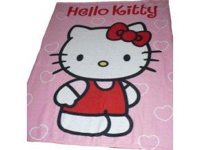 Fleecová deka Hello Kitty růžová 2016