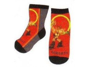 Ponožky Gormiti vel. 19-22 červená a bílá 2016