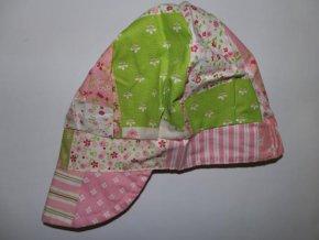 Dívčí letní čepice s kšiltem Pico růžovozelená 2018