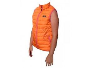 Dívčí vesta lehká nylonová Pidilidi PD0996-17 oranžová 2019