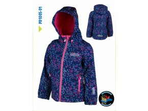 Dívčí softshellová bunda Pidilidi PD1005-01 modrá 2019