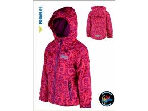 Dívčí outdoorová bunda Pidilidi PD1009-01 růžová 2019