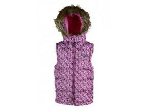 Dívčí vesta PUFFY Pidilidi PD1011-03, růžová 2018