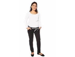 Těhotenské tepláky,kalhoty MONY - černé 2019