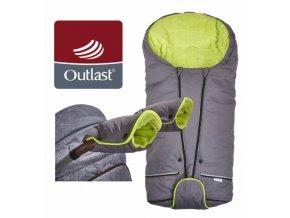 Set Little Angel svítící Fusak Exclusive Outlast a rukavice šedá/limetková