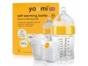 Dětská lahev YOOMI 8oz Bottle/Warmer/Teat/Pod - Y18B1W1P 2018