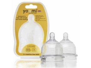 Savička střední průtok YOOMI teats Medium flow - YMFT 2018