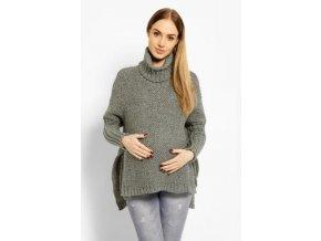 Volný vlněný těhotenský, kojící svetřík, pončo ALLYX 2019