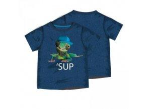 Tričko chlapecké s krátkým rukávem Minoti BUGS 1,MT1401-04 modrá 2018