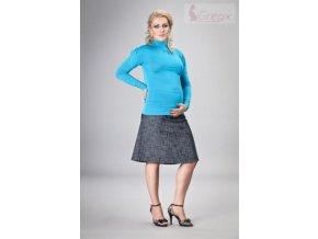 Elegantní těhotenská sukně DENIM - granát 2018