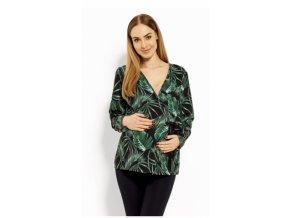 Zavinovací těhotenská, kojící halenka Printy jungle 2018
