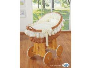 Proutěný koš na miminko MY SWEET BABY kolekce CARINA > varianta krémová