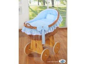 Proutěný koš na miminko MY SWEET BABY kolekce CARINA > varianta modrá