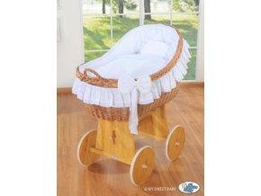 Proutěný koš na miminko MY SWEET BABY kolekce CARINA > varianta bílá