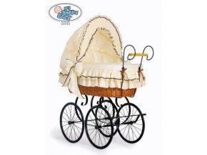Proutěný retro koš na miminko MY SWEET BABY - DOMÁCÍ KOČÁREK > varianta 2100-026