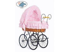 Luxusní RETRO koš na miminko MY SWEET BABY - DOMÁCÍ KOČÁREK > varianta 2100-173