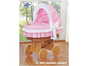 Luxusní proutěný koš na miminko s kompletní výbavou My Sweet Baby > varianta 58962-119
