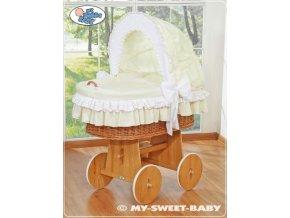 Luxusní proutěný koš na miminko s kompletní výbavou My Sweet Baby > varianta 58962-135