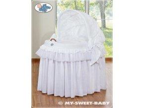 Romantický proutěný koš pro miminko My Sweet Baby KORUNA s boudou > varianta 92114-300