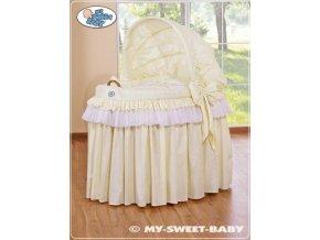 Romantický proutěný koš pro miminko My Sweet Baby KORUNA s boudou > varianta 92114-301