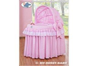Romantický proutěný koš pro miminko My Sweet Baby KORUNA s boudou > varianta 92114-302