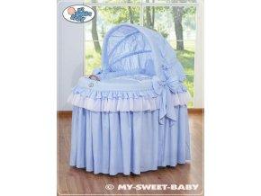 Romantický proutěný koš pro miminko My Sweet Baby KORUNA s boudou > varianta 92114-305