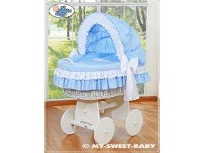 Proutěný koš BÍLÝ na miminko My Sweet Baby - DOMÁCÍ LUXUSNÍ KOČÁREK > varianta 78962-109