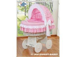 Proutěný koš BÍLÝ na miminko My Sweet Baby - DOMÁCÍ LUXUSNÍ KOČÁREK > varianta 78962-119