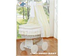 Proutěný koš BÍLY na miminko My Sweet Baby - DOMÁCÍ LUXUSNÍ KOČÁREK > varianta 79582-135