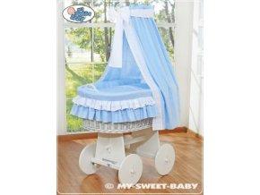 Proutěný koš BÍLY na miminko My Sweet Baby - DOMÁCÍ LUXUSNÍ KOČÁREK > varianta 79582-109