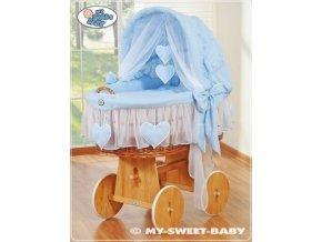 Proutěný maxi koš pro miminko My Sweet Baby SRDÍČKA > varianta 58962-134