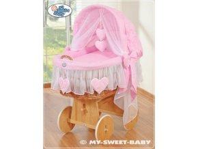 Proutěný maxi koš pro miminko My Sweet Baby SRDÍČKA > varianta 58962-122
