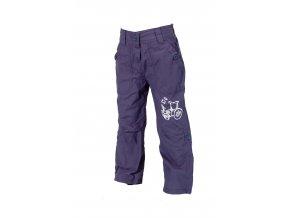 Dětské kalhoty PIDILIDI s podšívkou modrá PD0340-04 2019
