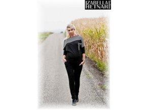 Těhotenské kalhoty Kaja - černé 2019