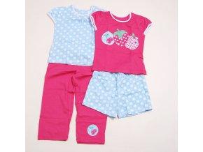 PIDILIDI Letní dívčí pyžamko vel.80-104 PD0810-03