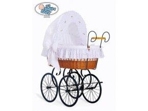 Proutěný retro koš na miminko MY SWEET BABY - DOMÁCÍ KOČÁREK > varianta 2100-080