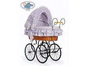 Proutěný retro koš na miminko MY SWEET BABY - DOMÁCÍ KOČÁREK > varianta 2100-370