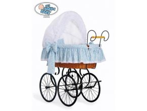 Luxusní RETRO koš na miminko MY SWEET BABY - DOMÁCÍ KOČÁREK > varianta 2100-914 (modrá louka)